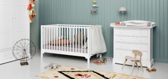 Oliver Furniture Seaside Cot in green nursery