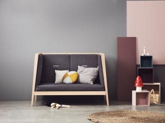 Leander cot in grey nursery