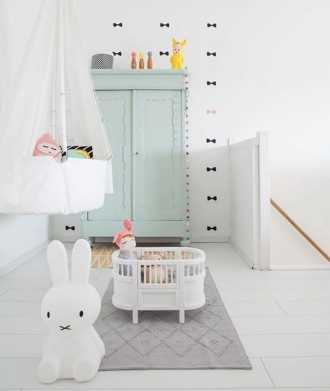Scandi nursery with Miffy Floor lamp