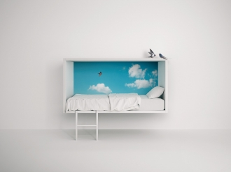 Designer wall mounted bed