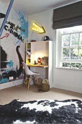 Desk in playroom