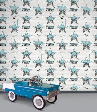 Dinosaurs Rock wallpaper in bedroom
