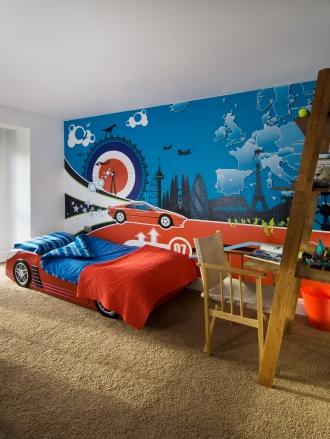Ferrari Across Europe mural, Grand Designs house, Cheltenham