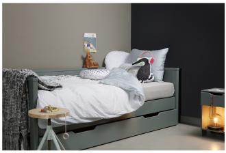 De Eekhorn Dennis sofa bed, grey bed in bedroom