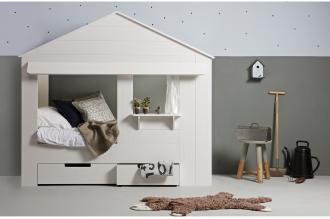 Huisie cupboard bed grey