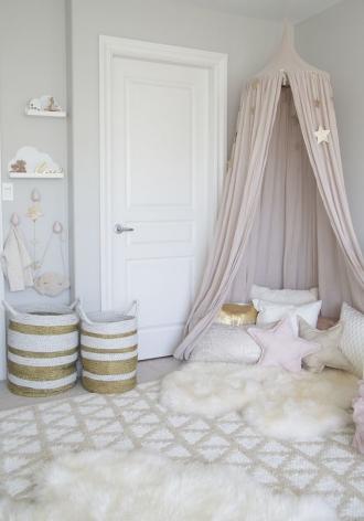 Neutral girls bedroom