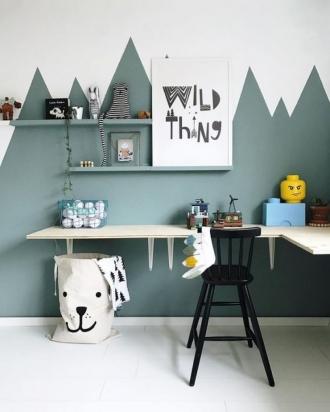 desk in kids room