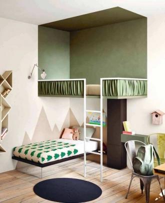 Designer bunk beds in childrens bedroom