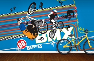 BMX mural, Funky Little Darlings