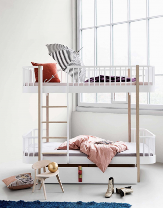 Oliver bunk beds, white wooden bunk beds