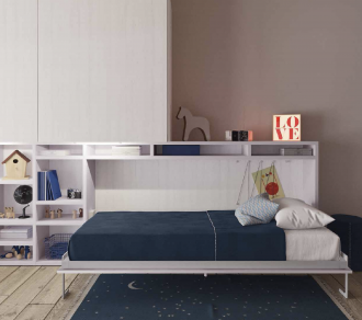 Built in bed in teen room