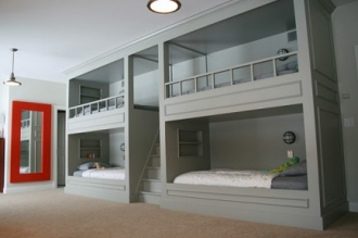 Custom built bunk beds