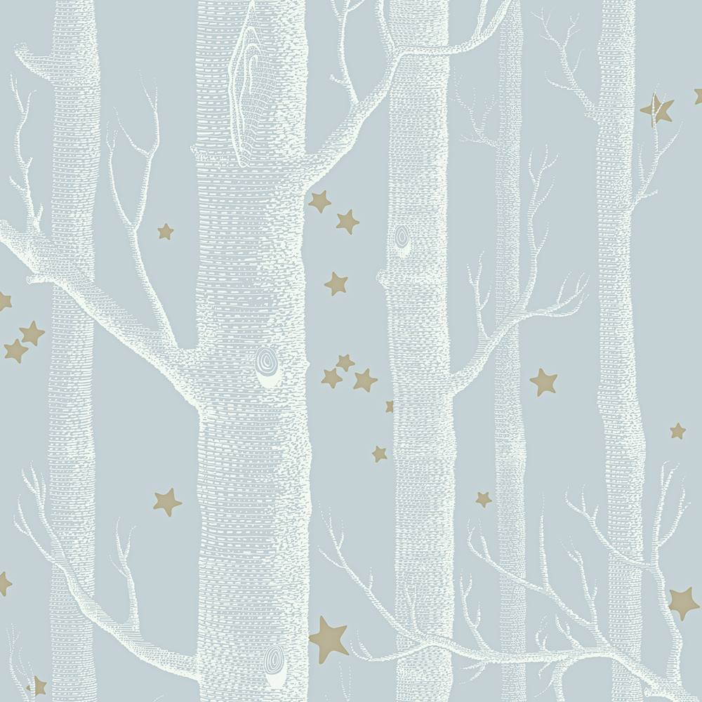 Cole And Son Woods cole & son woods and stars wallpaper pale blue