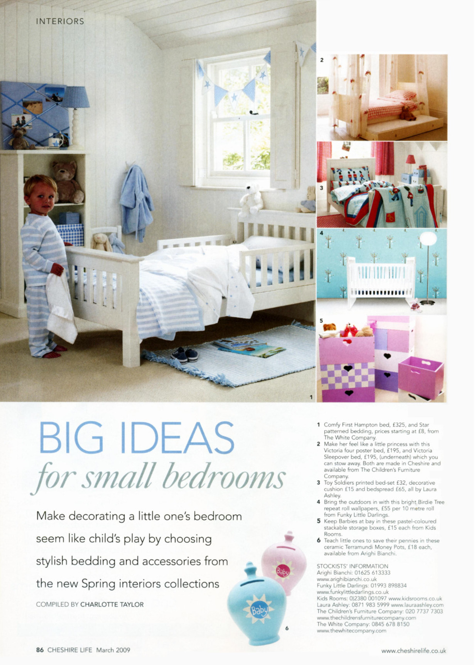 Big ideas for small rooms - feature on decorating compact children's bedrooms