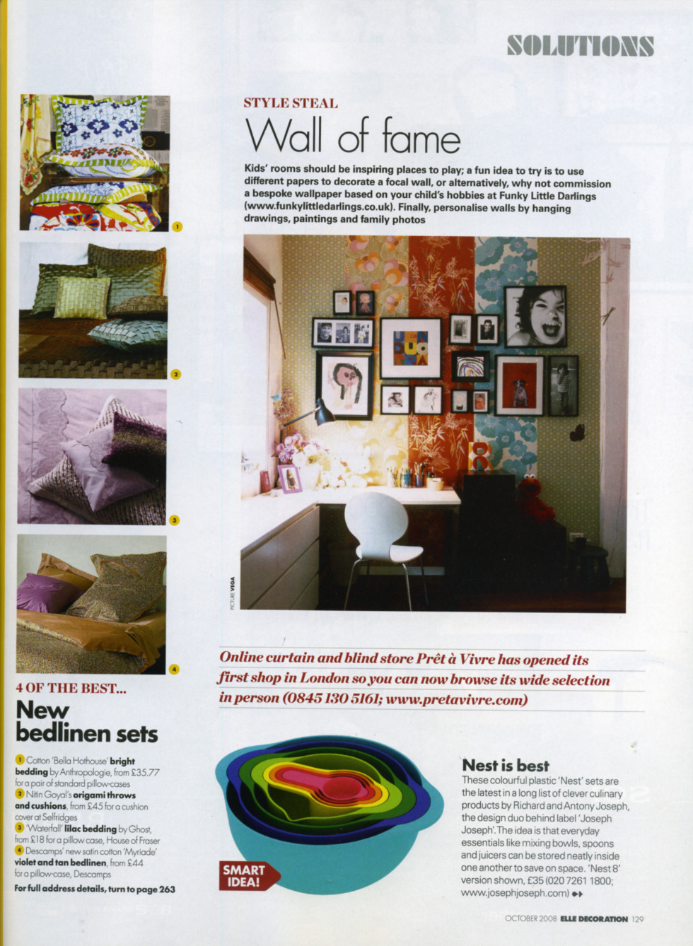 Elle Decoration feature with Funky Little Darlings. Wall of Fame - commission a bespoke children's wallpaper from Funky Little Darlings