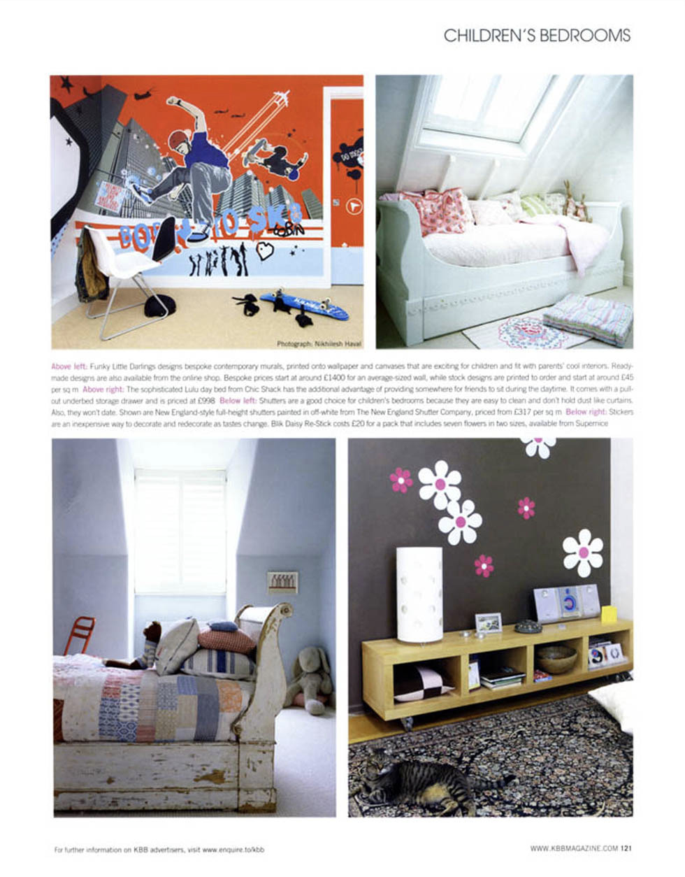 Born to Sk8 bespoke mural in feature - our designs fit in with parents' cool interiors